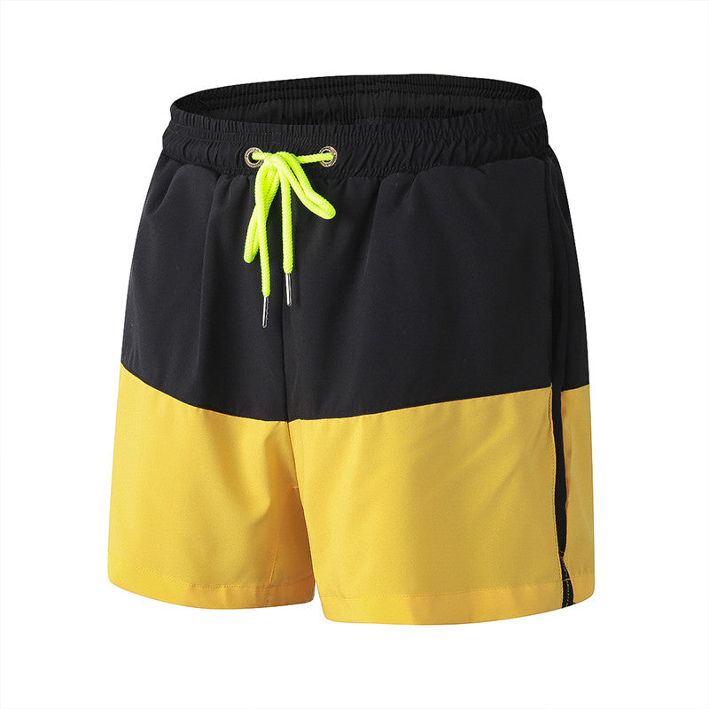 Dual-Colored Men's Compression Cross fit / Yoga Shorts