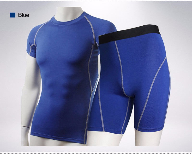 Compression Tights  +  Fitness Tracksuit /Short Sleeve T Shirt in solid colors