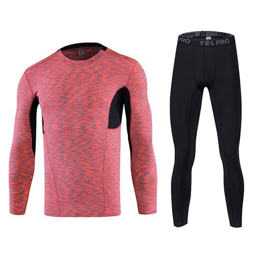 New Quick Dry Tight Tracksuit + Fitness Long Sleeve Shirt