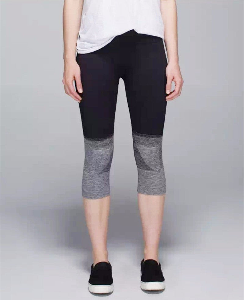 Womens Two-Toned, Knee-High Yoga Leggings made with Eco-friendly Cotton