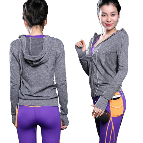 Zip-up Running Sports Shirt For Yoga - Anthleisure Wear