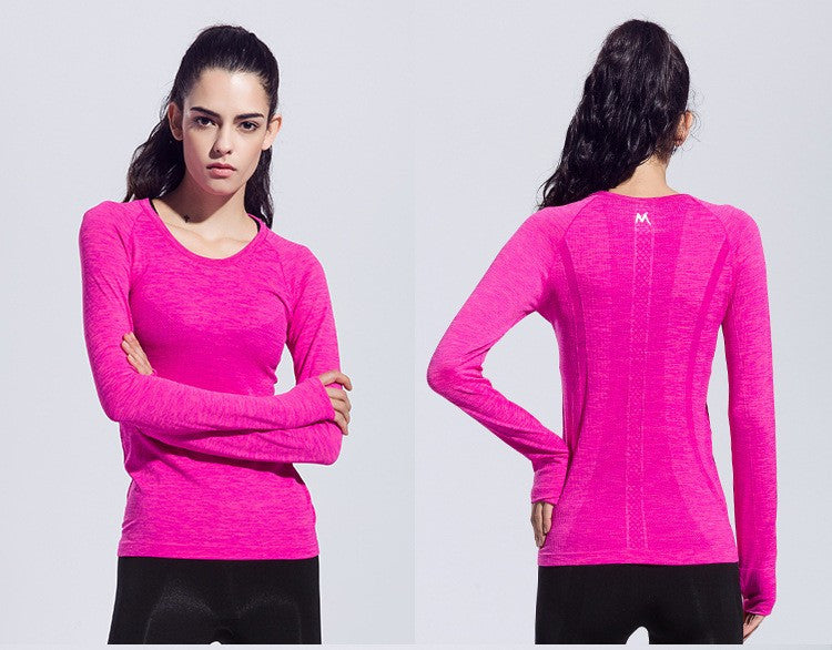 Womens Long-sleeved Cotton  Fitness/Yoga Shirt