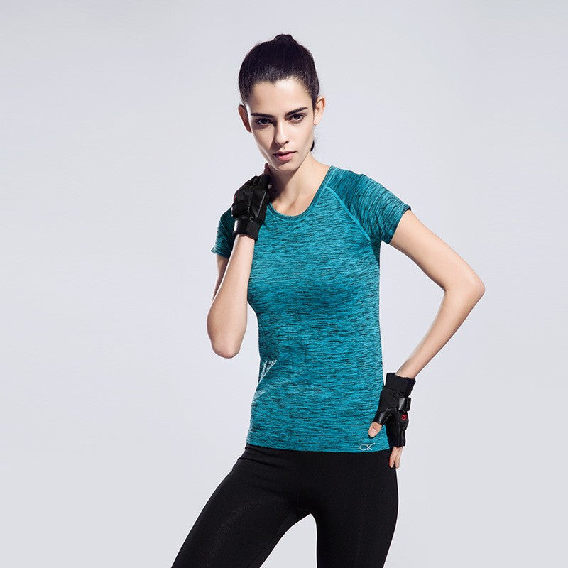 Short sleeved womens fitness top (Quick dry)