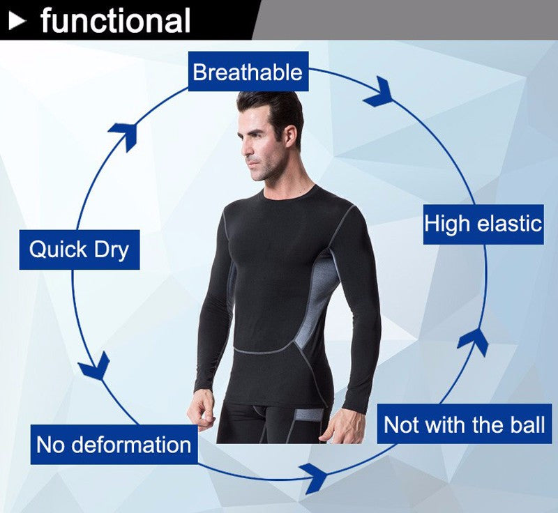 Fitness Training jersey / Top Compression Long-Sleeved Shirt