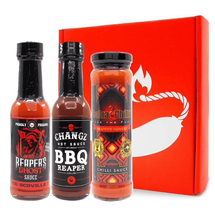ChilliBOM Reaper Extreme Gift Pack ChilliBOM Hot Sauce Club Australia Chilli Subscription Gifts SHU Scoville