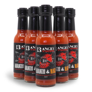 13 Angry Scorpions Habanero and Mango Hot Sauce 150ml ChilliBOM Hot Sauce  Store Hot Sauce Club Australia Chilli Subscription Club Gifts SHU Scoville group 2