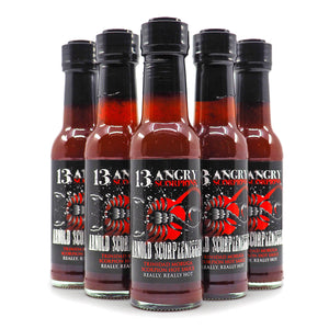 13 Angry Scorpions Arnold Scorpzenegger Hot Sauce 150ml group2 ChilliBOM Hot Sauce Club Australia Chilli Subscription Gifts SHU Scoville