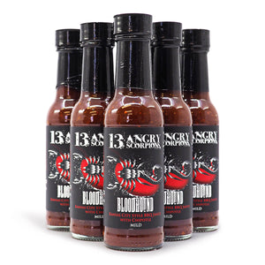 13 Angry Scorpions Bloodhound Hot Sauce 150ml ChilliBOM Hot Sauce Store Hot Sauce Club Australia Chilli Sauce Subscription Club Gifts SHU Scoville saucemania
