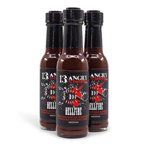 13 Angry Scorpions Hellfire 150ml ChilliBOM Hot Sauce Store Hot Sauce Club Australia Chilli Sauce Subscription Club Gifts SHU Scoville group