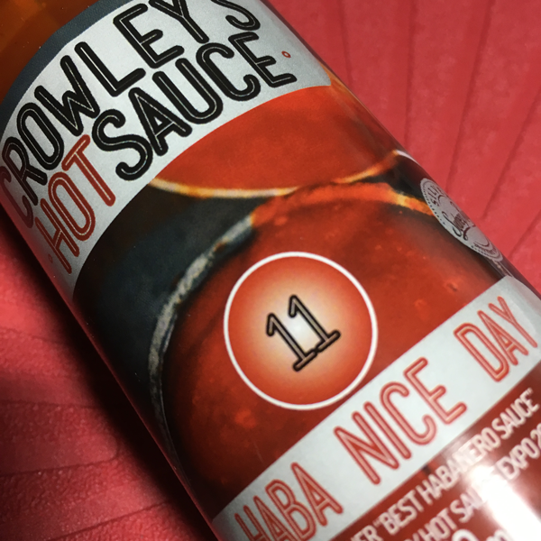 Crowleys Hot Sauce Haha Nice Day 150ml stylised ChilliBOM Hot Sauce Club Australia Chilli Subscription Gifts SHU Scoville