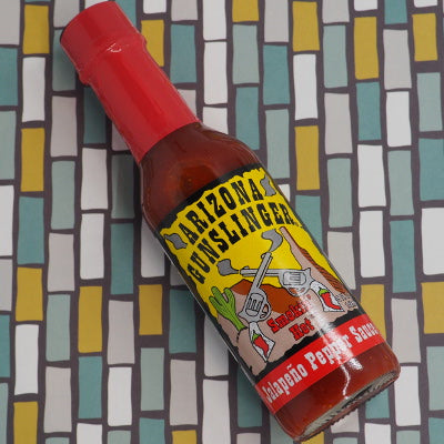 Arizona Gunslinger Red Jalapeño 148ml stylised ChilliBOM Hot Sauce Club Australia Gifts Chilli Subscription Box