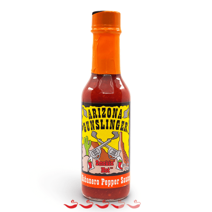 Arizona Gunslinger Habanero Pepper Sauce 148ml ChilliBOM Hot Sauce Club Australia Gifts Chilli Subscription Box