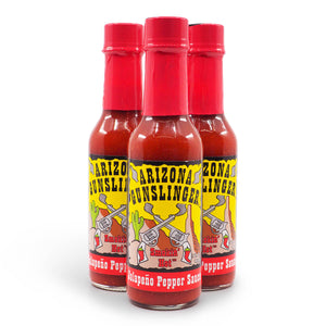 Arizona Gunslinger Red Jalapeño 148ml group ChilliBOM Hot Sauce Club Australia Gifts Chilli Subscription Box