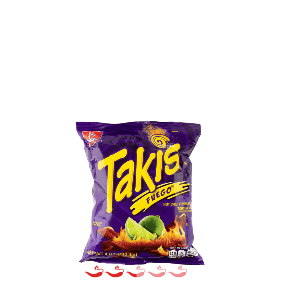Barcel Takis Fuego Hot Chili Pepper & Lime Tortillas 113g