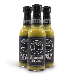 Basketcase jalapeño Fire Hot Sauce 250ml ChilliBOM Hot Sauce Club Australia Chilli Subscription Gifts SHU Scoville group