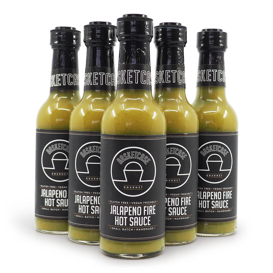 Basketcase jalapeño Fire Hot Sauce 250ml ChilliBOM Hot Sauce Club Australia Chilli Subscription Gifts SHU Scoville group2