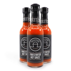 Basketcase Firestarter Hot Sauce 150ml ChilliBOM Hot Sauce Store Hot Sauce Club Australia Chilli Sauce Subscription Club Gifts SHU Scoville group