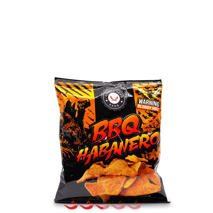 Chilli Seed Bank BBQ Habanero Corn Chips ChilliBOM Hot Sauce Club Australia Chilli Subscription Gifts SHU Scoville