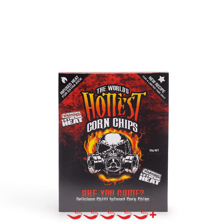World's Hottest Corn Chip Chilli Seed Bank 50g ChilliBOM Hot Sauce Club Australia Chilli Subscription Gifts SHU Scoville