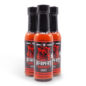 Chilli Seed Bank Reaper's Ghost Pepper Sauce 150ml group ChilliBOM Hot Sauce Club Australia Chilli Subscription Gifts SHU Scoville