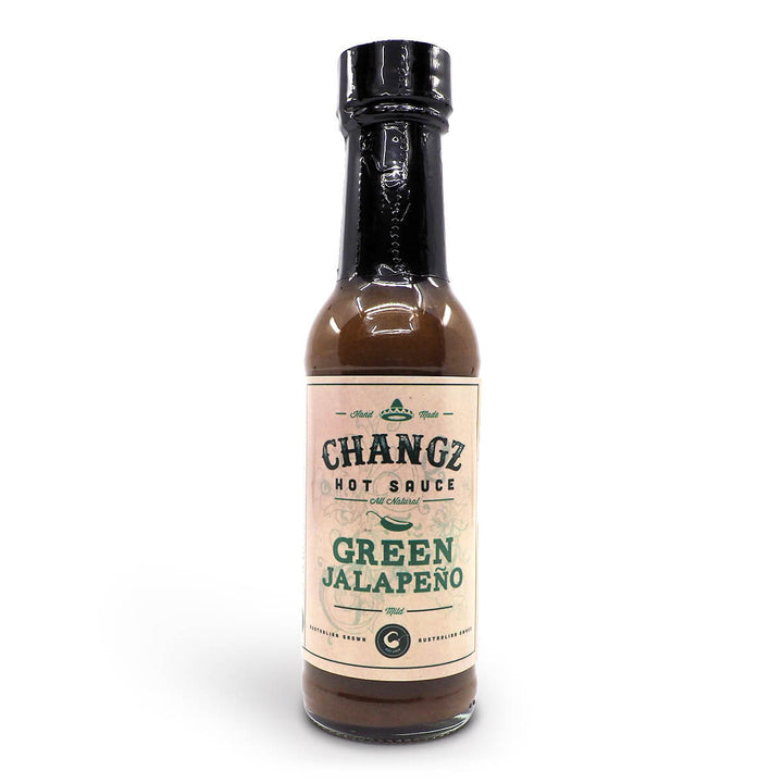 Changz Hot Sauce Green Jalapeño 150ml ChilliBOM Hot Sauce Club Australia Chilli Subscription Gifts SHU Scoville
