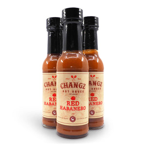 Changz Hot Sauce Red Habanero 150ml ChilliBOM Hot Sauce Club Australia Chilli Subscription Gifts SHU Scoville group