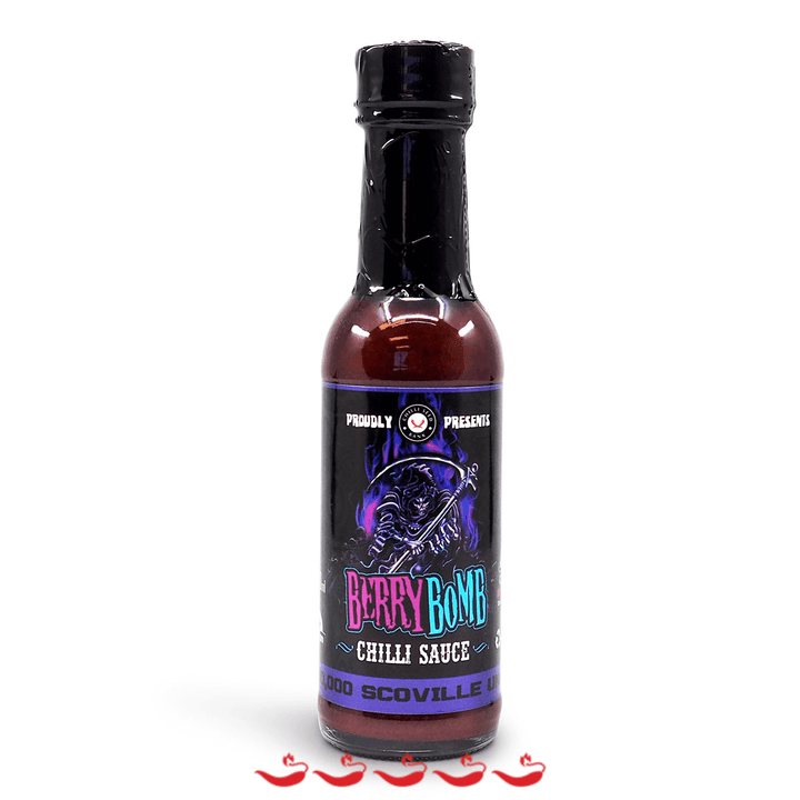 Chilli Seed Bank Berry Bomb Chilli Sauce 150ml ChilliBOM Hot Sauce Store Hot Sauce Club Australia Chilli Sauce Subscription Club Gifts SHU Scoville