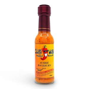 Chilli Willies Aussie Backburn Hot Sauce 150ml ChilliBOM Hot Sauce Club Australia Chilli Subscription Gifts SHU Scoville