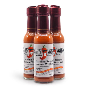 Carolina Reaper Rectum Wrecker Hot Sauce 150ml ChilliBOM Hot Sauce Club Australia Chilli Subscription Gifts SHU Scoville group