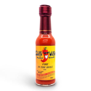 Chilli Willies Fire in the Hole Hot Sauce 150ml ChilliBOM Hot Sauce Club Australia Chilli Subscription Gifts SHU Scoville