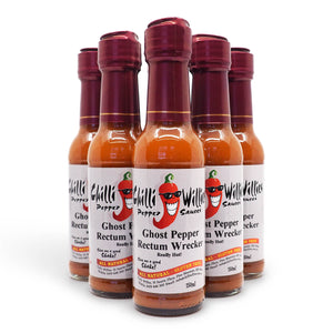 Chilli Willies Ghost Pepper Rectum Wrecker Hot Sauce 150ml group2 ChilliBOM Hot Sauce Club Australia Chilli Subscription Gifts SHU Scoville