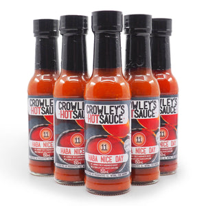 Crowleys Hot Sauce Haha Nice Day 150ml group2 ChilliBOM Hot Sauce Club Australia Chilli Subscription Gifts SHU Scoville