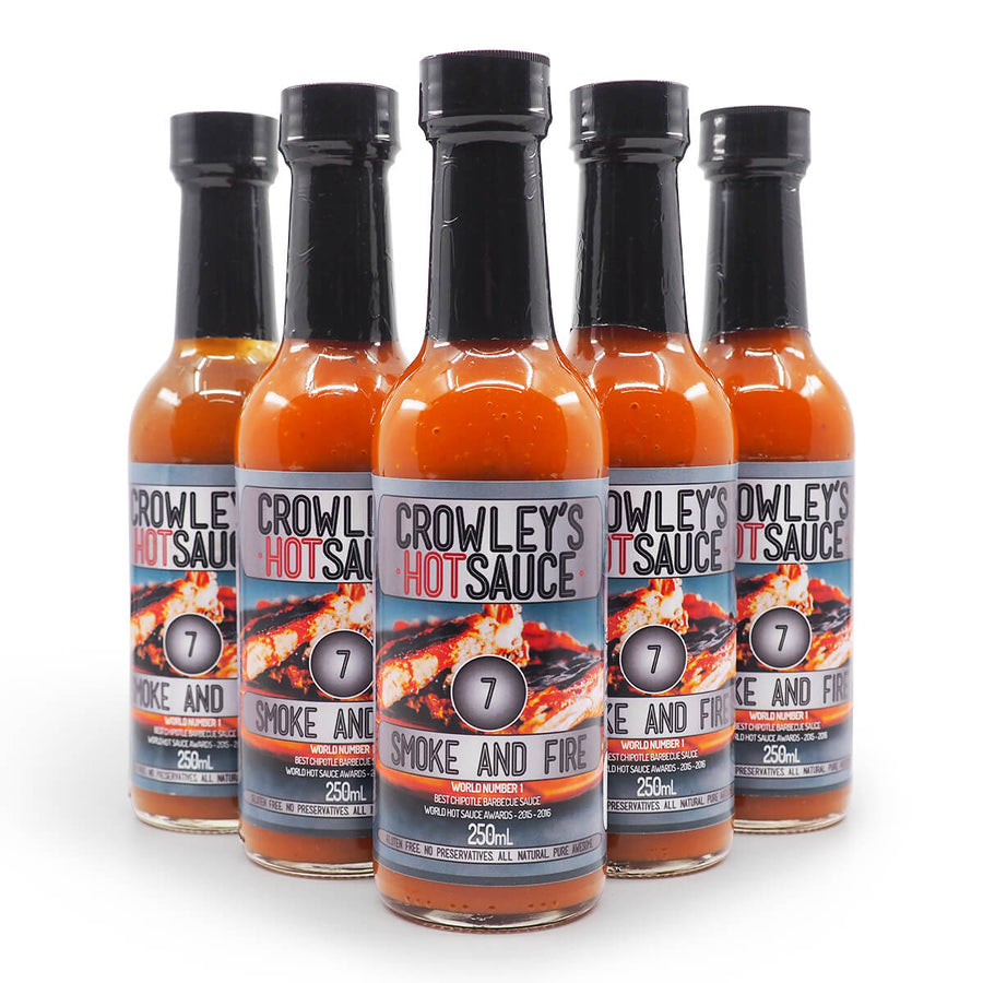 Crowley's Hot Sauce Smoke and Fire 250ml group2 ChilliBOM Hot Sauce Club Australia Chilli Subscription Gifts SHU Scoville