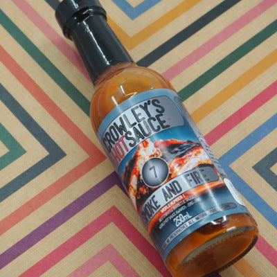 Crowley's Hot Sauce Smoke and Fire 250ml ChilliBOM Hot Sauce Club Australia Chilli Subscription Gifts SHU Scoville