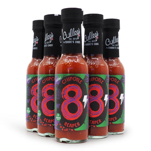 Culley's No 8 Chipotle Reaper 150ml ChilliBOM Hot Sauce Store Hot Sauce Club Australia Chilli Sauce Subscription Club Gifts SHU Scoville group