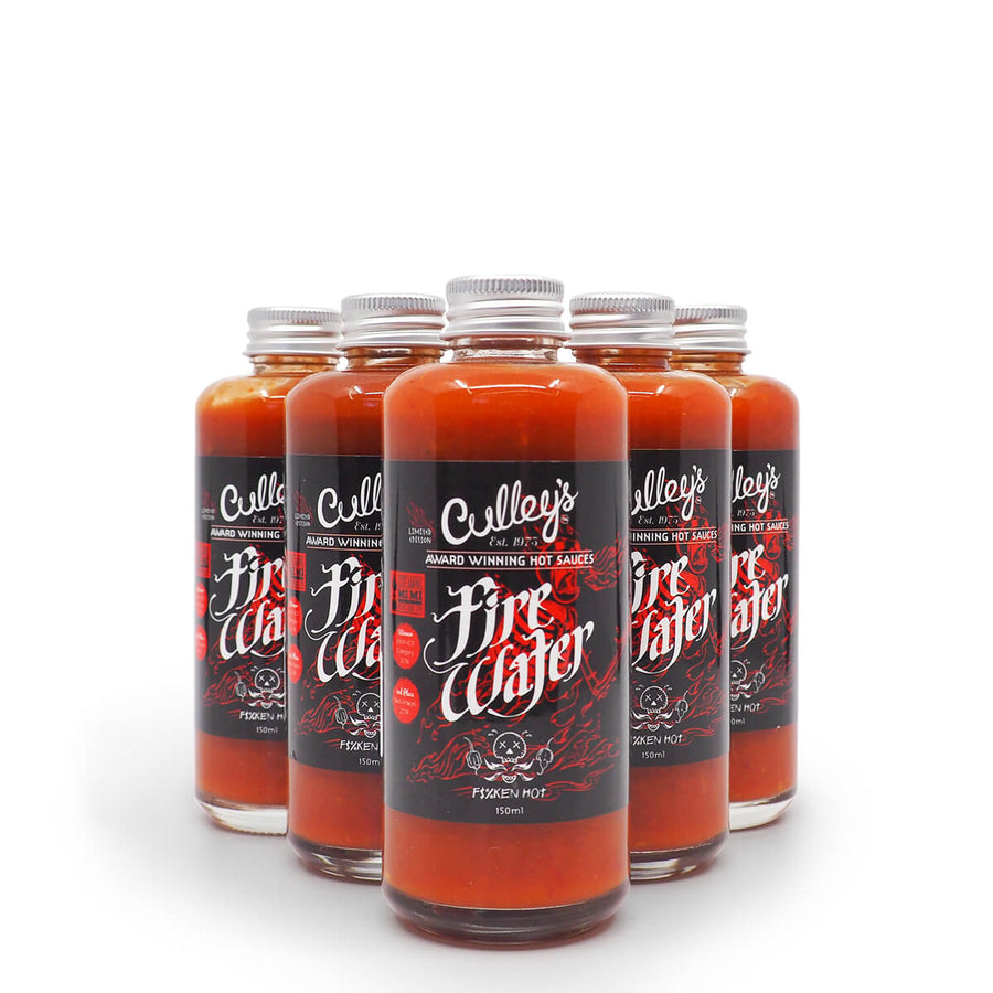 Culley's Limited Edition Firewater 150ml group2 ChilliBOM Hot Sauce Club Australia Chilli Subscription Gifts SHU Scoville