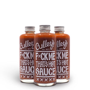 Culley's F$%K Me That's Hot Sauce 150ml group ChilliBOM Hot Sauce Club Australia Chilli Subscription Gifts SHU Scoville
