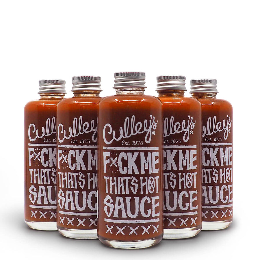 Culley's F$%K Me That's Hot Sauce 150ml group2 ChilliBOM Hot Sauce Club Australia Chilli Subscription Gifts SHU Scoville