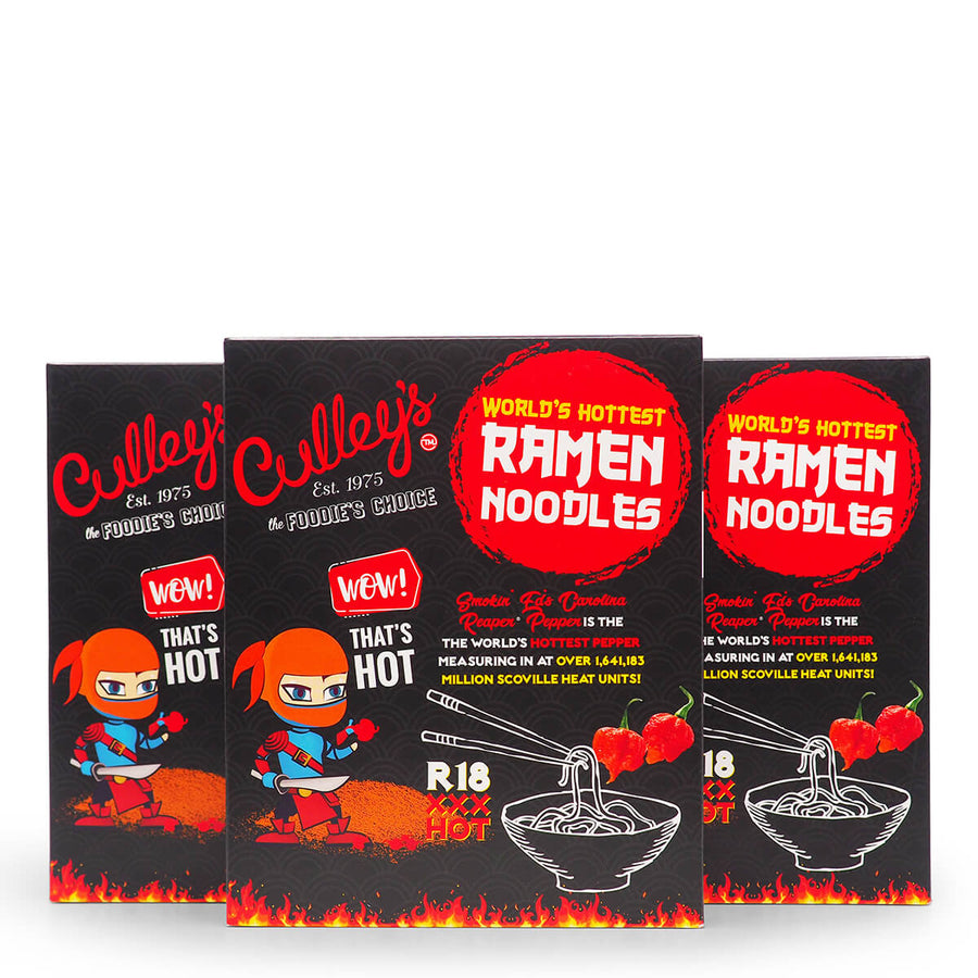 Culley's World's Hottest Ramen Noodles group ChilliBOM Hot Sauce Club Australia Chilli Subscription Gifts SHU Scoville