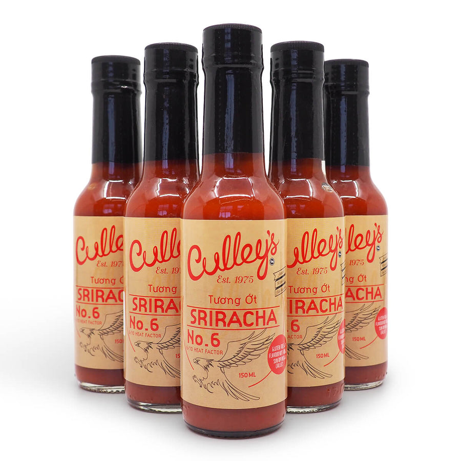 Culley's No6 Sriracha 150ml group2 ChilliBOM Hot Sauce Club Australia Chilli Subscription Gifts SHU Scoville