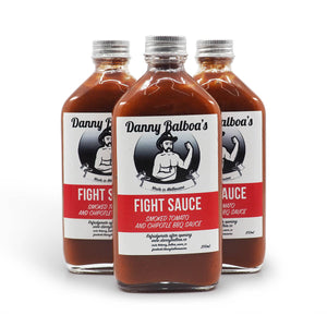 Danny Balboa's Fight Sauce 200ml group Hot Sauce ChilliBOM Hot Sauce Club Australia Chilli Subscription Gifts SHU Scoville