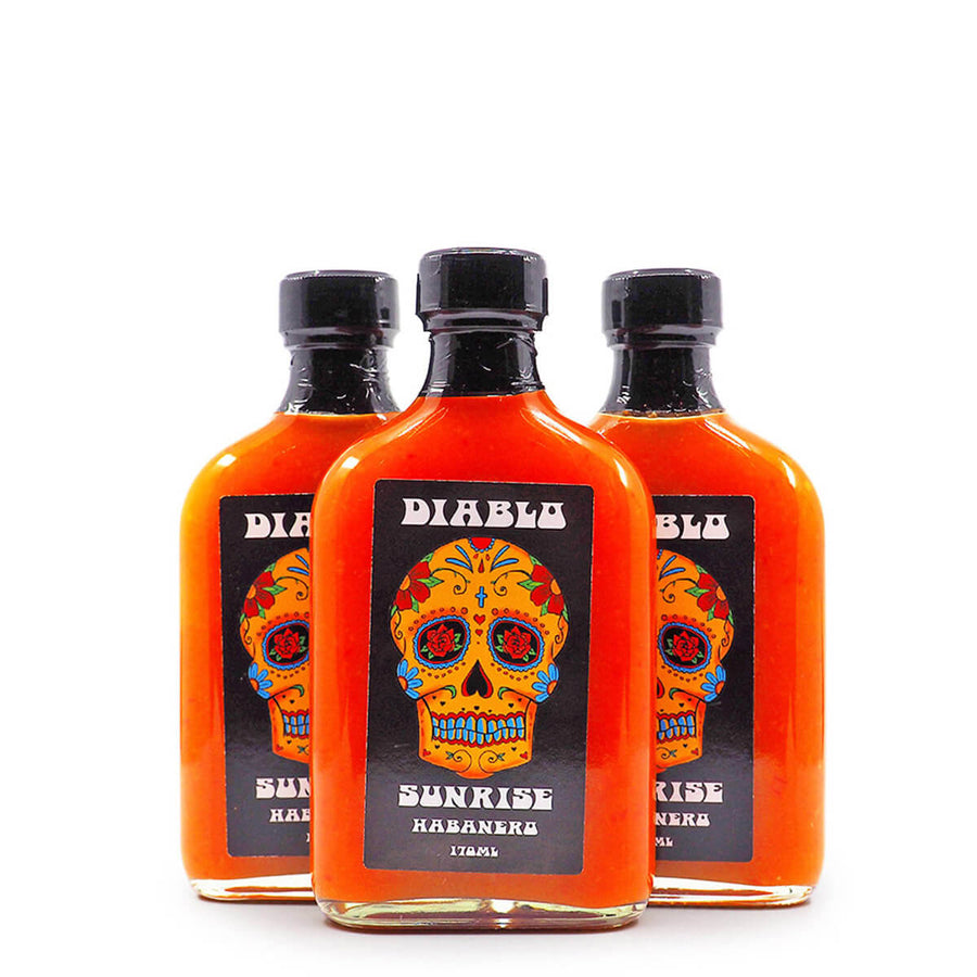 Diablo Sunrise Habanero Hot Sauce 170ml ChilliBOM Hot Sauce Club Australia Chilli Subscription Gifts SHU Scoville group