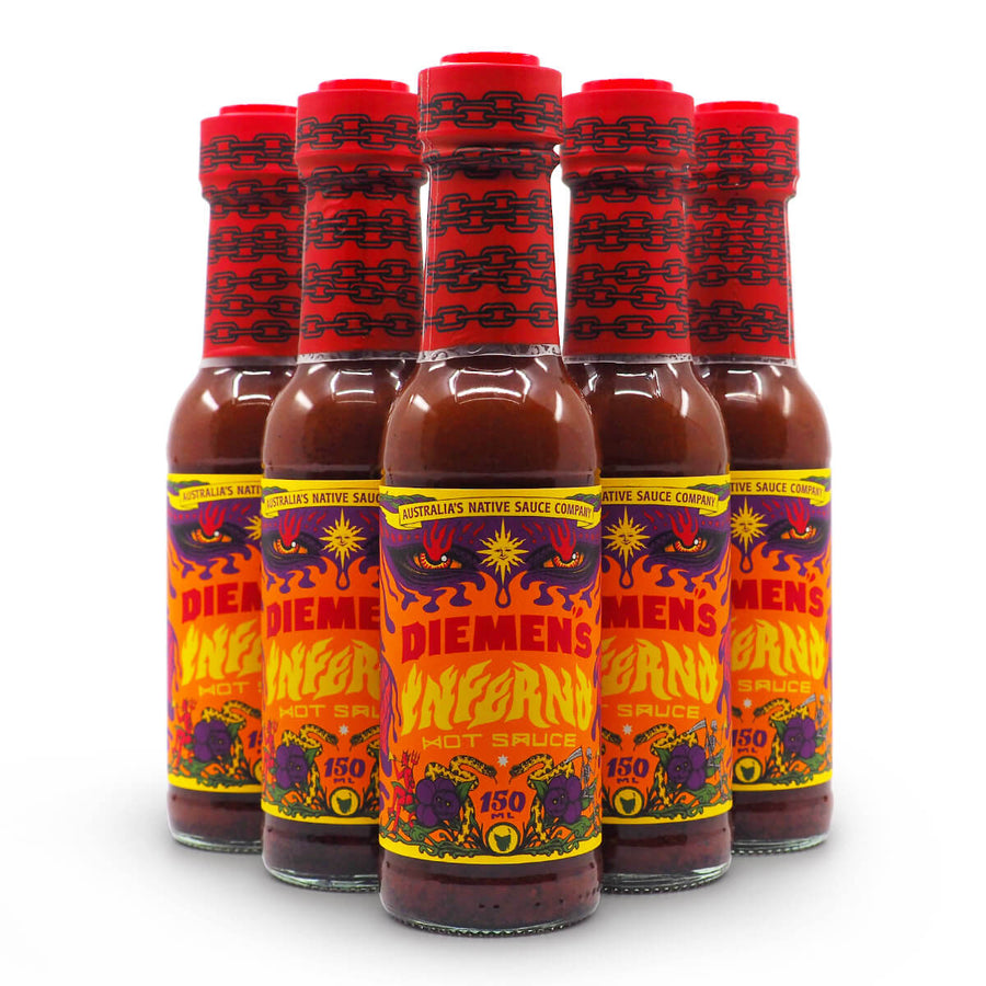 Diemen's Inferno Hot Sauce 150ml group2 ChilliBOM Hot Sauce Club Australia Chilli Subscription Gifts SHU Scoville