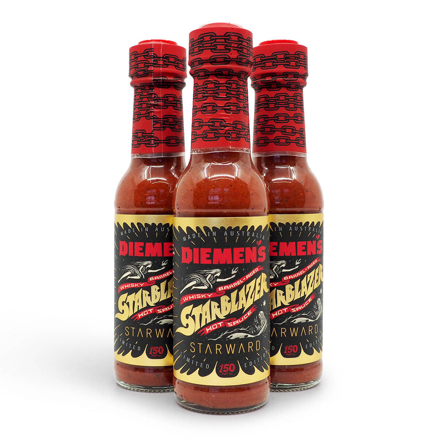Diemen's Starblazer Limited Edition 150ml Whisky Whiskey group ChilliBOM Hot Sauce Club Australia Chilli Subscription Gifts SHU Scoville