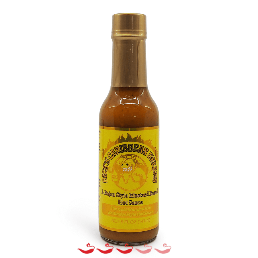 Dirty Dick's Dick's Caribbean Dreams 147ml ChilliBOM Hot Sauce Store Hot Sauce Club Australia Chilli Sauce Subscription Club Gifts SHU Scoville