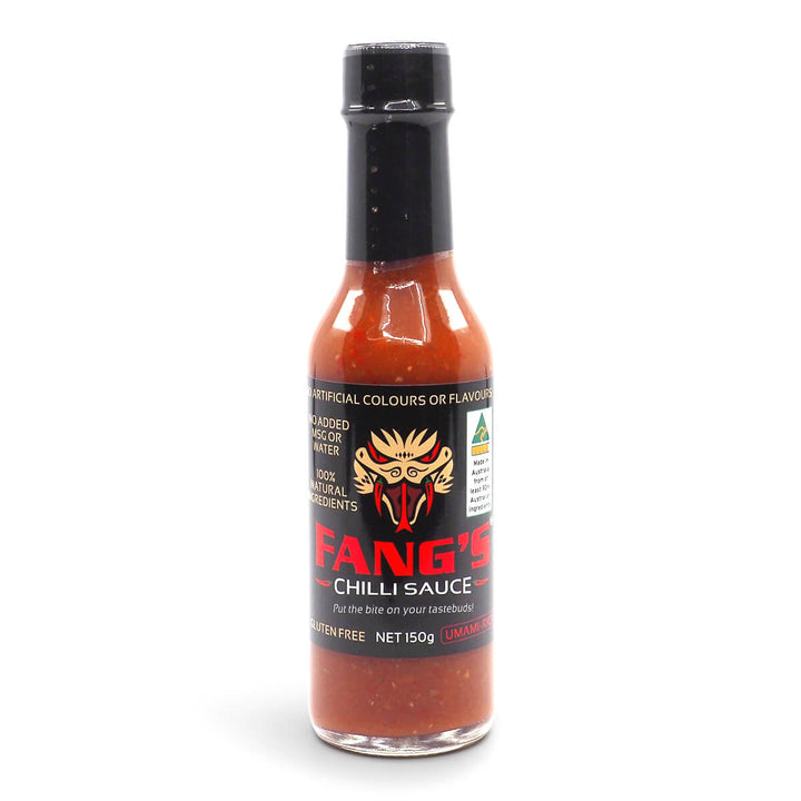 Fang's Chilli Sauce 150ml ChilliBOM Hot Sauce Club Australia Chilli Subscription Gifts SHU Scoville