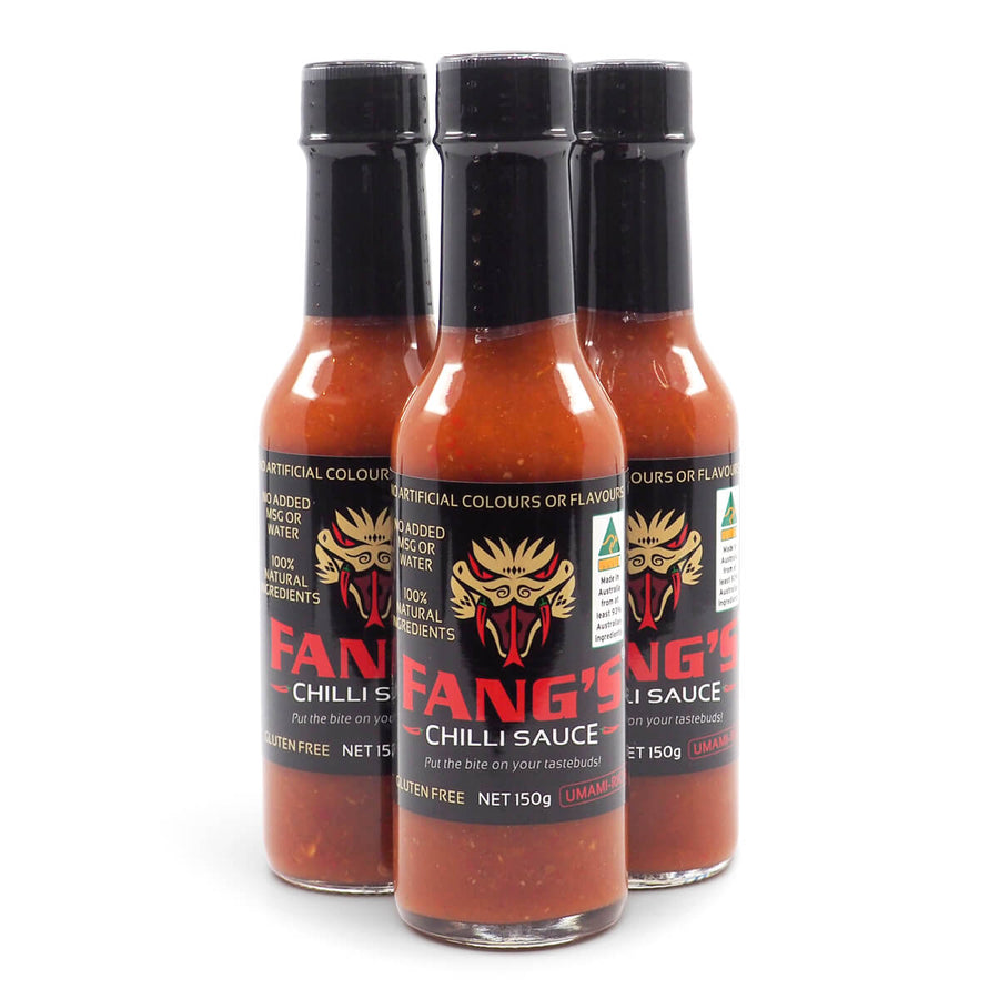 Fang's Chilli Sauce 150ml group ChilliBOM Hot Sauce Club Australia Chilli Subscription Gifts SHU Scoville