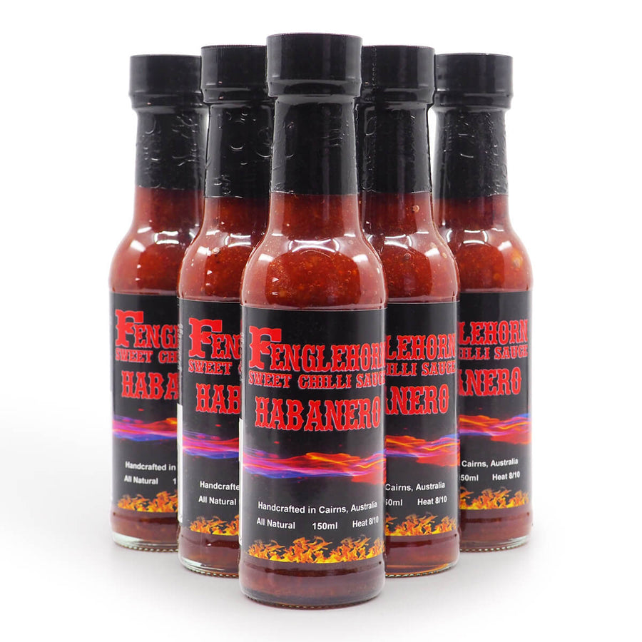 Fenglehorn Habanero Hot Sauce group2 ChilliBOM Australia Hot Sauce Club gifts chillibomb
