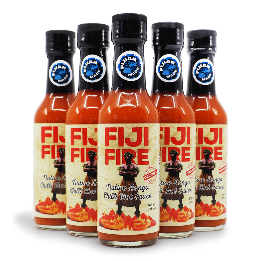 Fiji Fire Native Bongo Chilli Sauce 150ml 397g ChilliBOM Hot Sauce Club Australia Chilli Subscription Gifts SHU Scoville group2