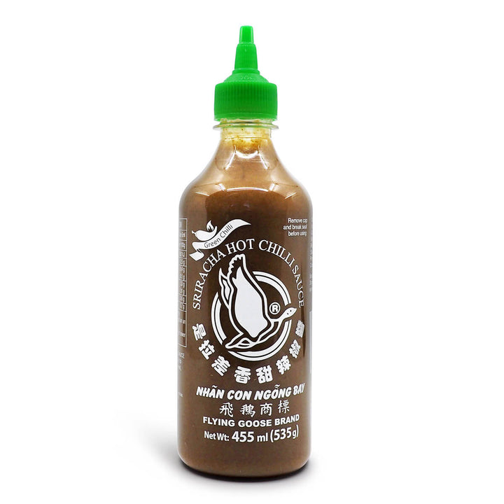 Flying Goose Green Chilli Sriracha Hot Chilli Sauce 455ml ChilliBOM Hot Sauce Store Hot Sauce Club Australia Chilli Sauce Subscription Club Gifts SHU Scoville
